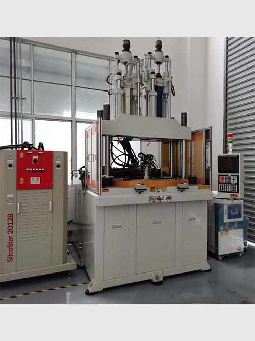 双色液态硅胶机,液态硅胶注塑机TFV4-120R2-2C-LSR